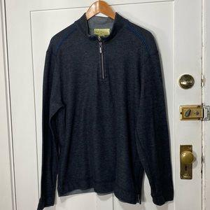 Tommy Bahama Gray Partial Zip Pullover Sweatshirt